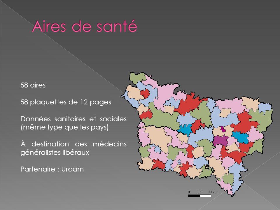 Aires de santé 58 aires 58 plaquettes de 12 pages