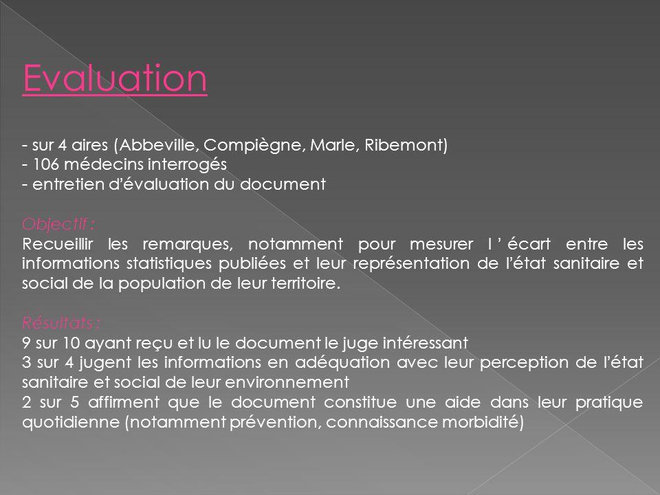 Evaluation sur 4 aires (Abbeville, Compiègne, Marle, Ribemont)