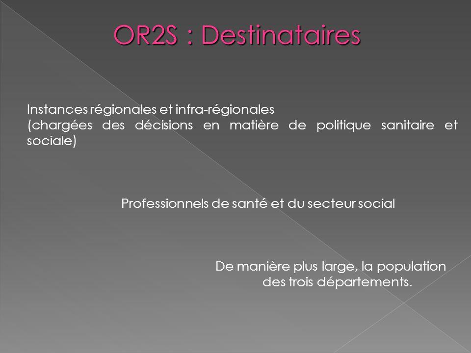 OR2S : Destinataires Instances régionales et infra-régionales