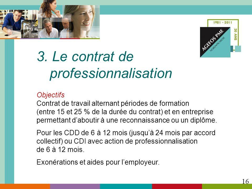 3. Le contrat de professionnalisation