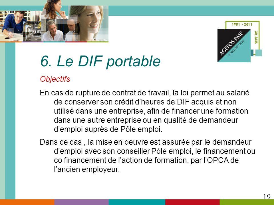 6. Le DIF portable Objectifs