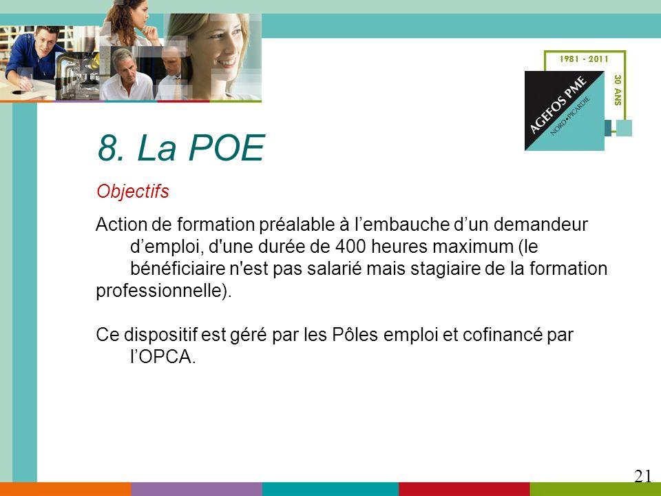 8. La POE Objectifs.