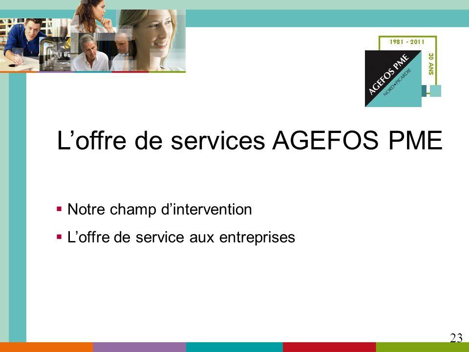 L'offre de services AGEFOS PME