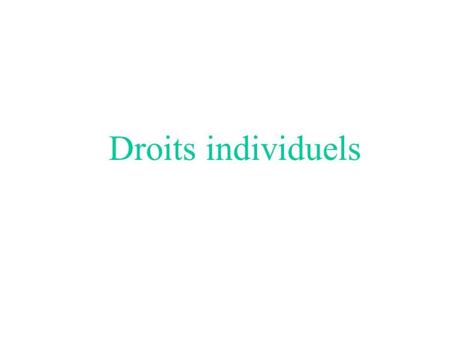 Droits individuels