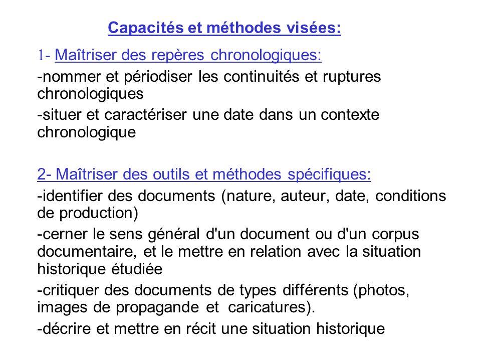 Capacités et méthodes visées:
