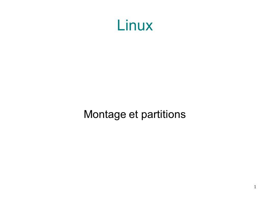 Linux Montage et partitions