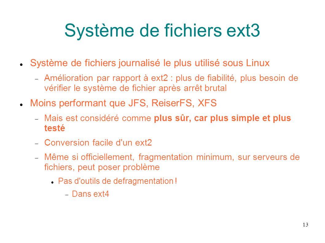 Système de fichiers ext3