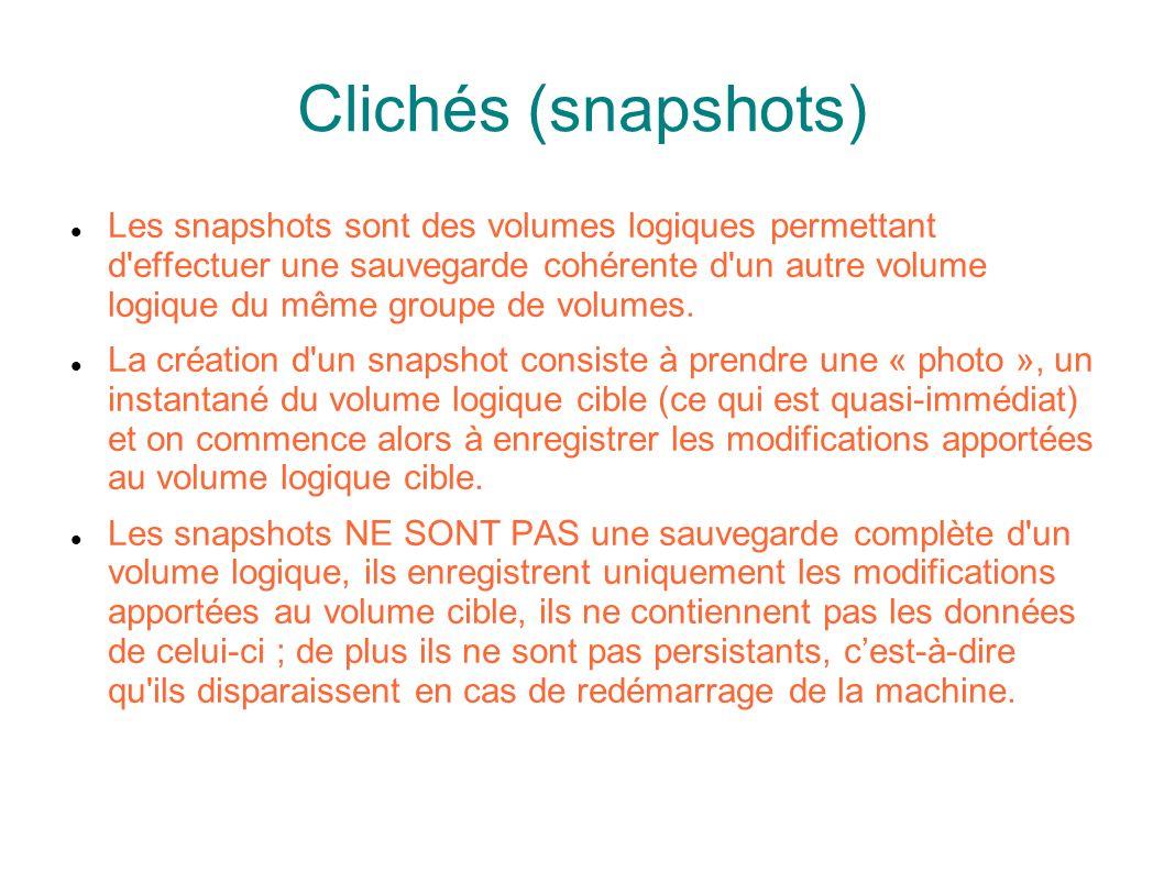 Clichés (snapshots)