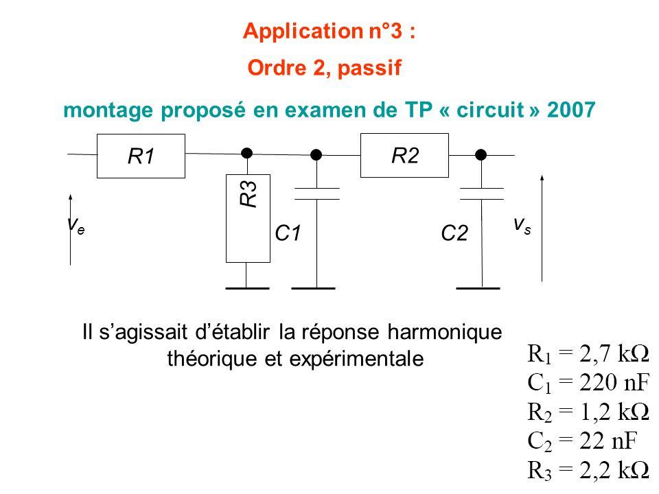 montage proposé en examen de TP « circuit » 2007