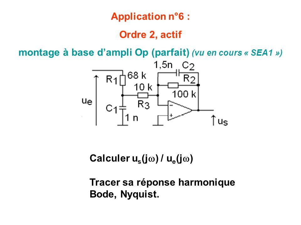 montage à base d'ampli Op (parfait) (vu en cours « SEA1 »)