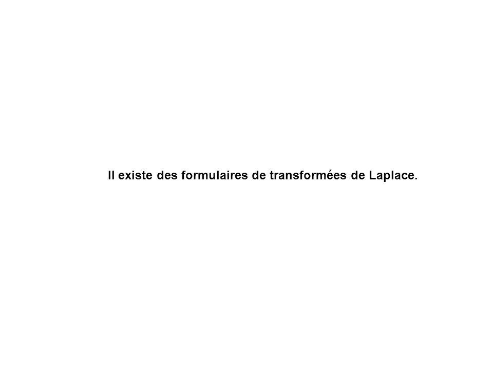 Il existe des formulaires de transformées de Laplace.