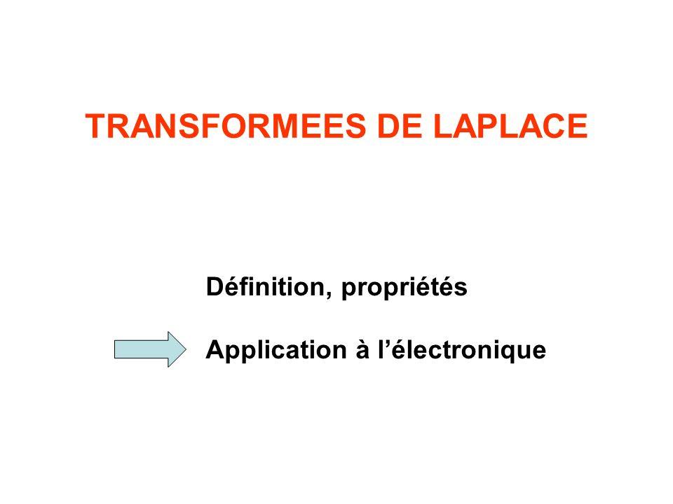 TRANSFORMEES DE LAPLACE