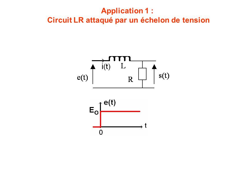 Circuit LR attaqué par un échelon de tension
