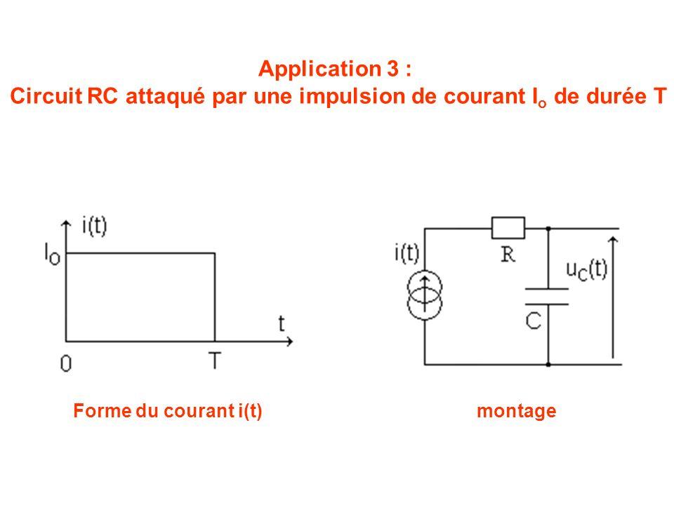Circuit RC attaqué par une impulsion de courant Io de durée T
