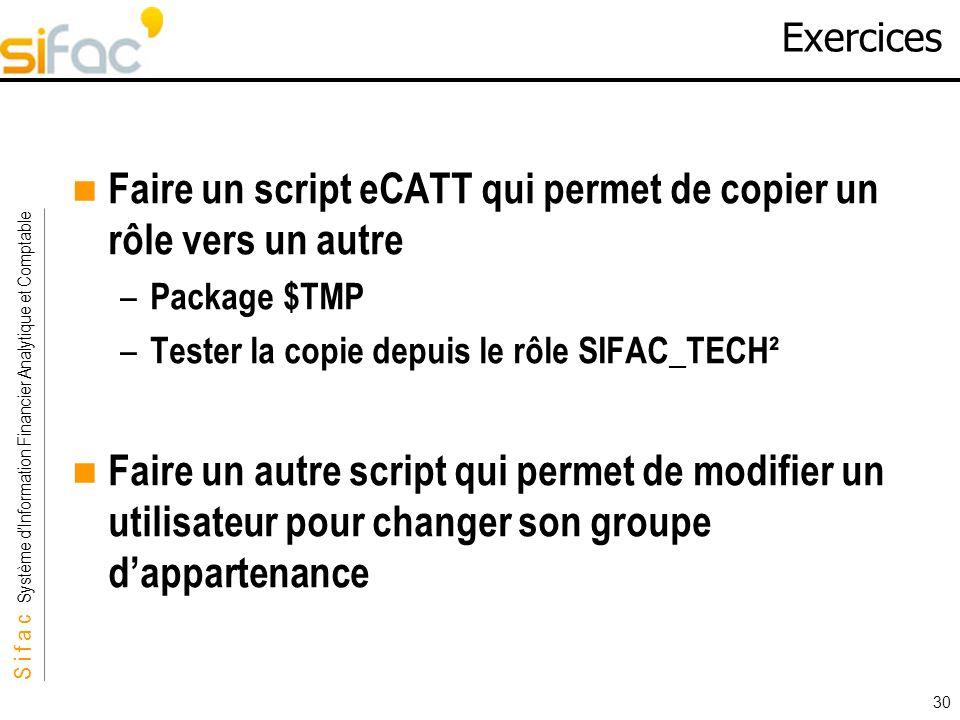 Faire un script eCATT qui permet de copier un rôle vers un autre