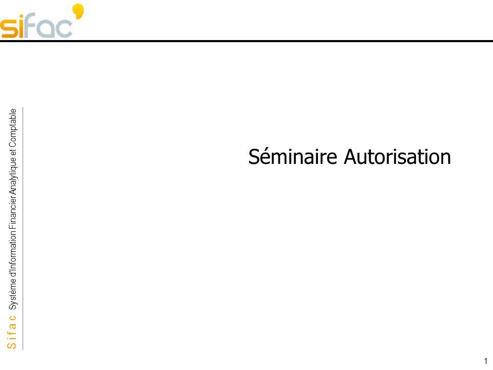 Séminaire Autorisation