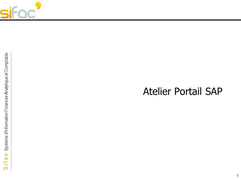 Atelier Portail SAP Durée : 2h