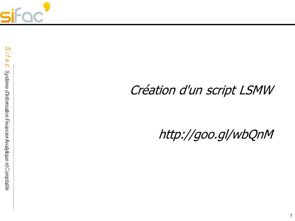 Création d un script LSMW