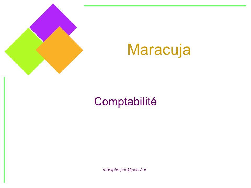 Maracuja Comptabilité rodolphe.prin@univ-lr.fr