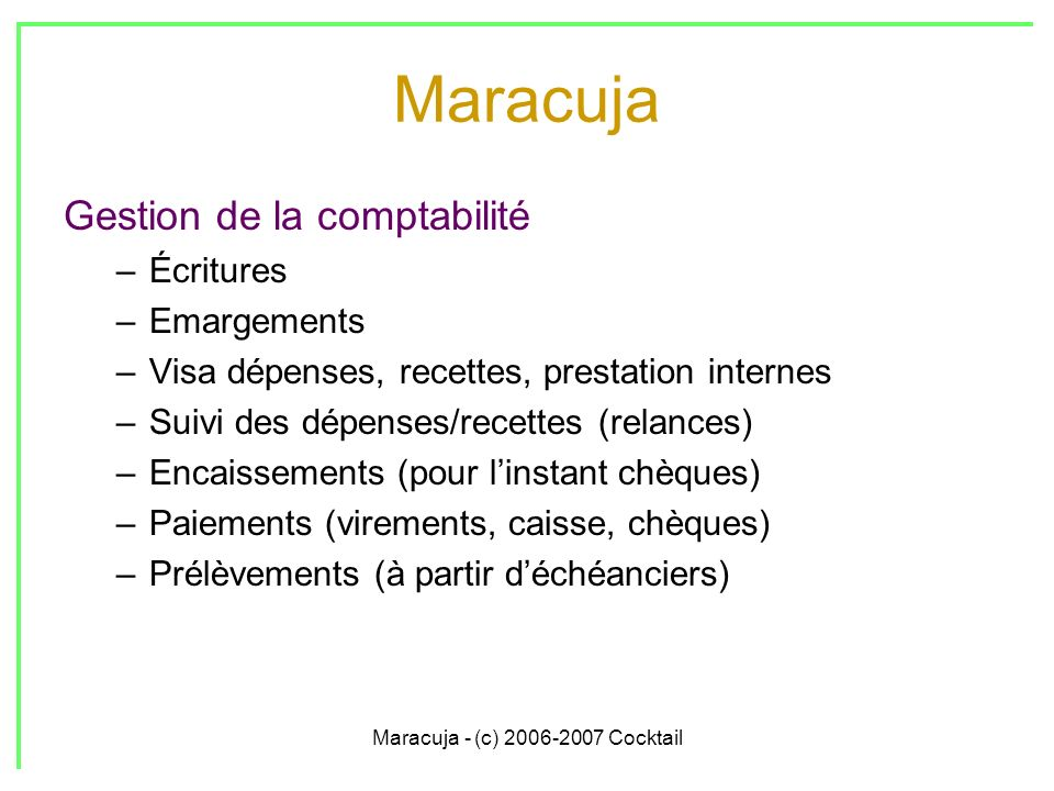 Maracuja - (c) 2006-2007 Cocktail