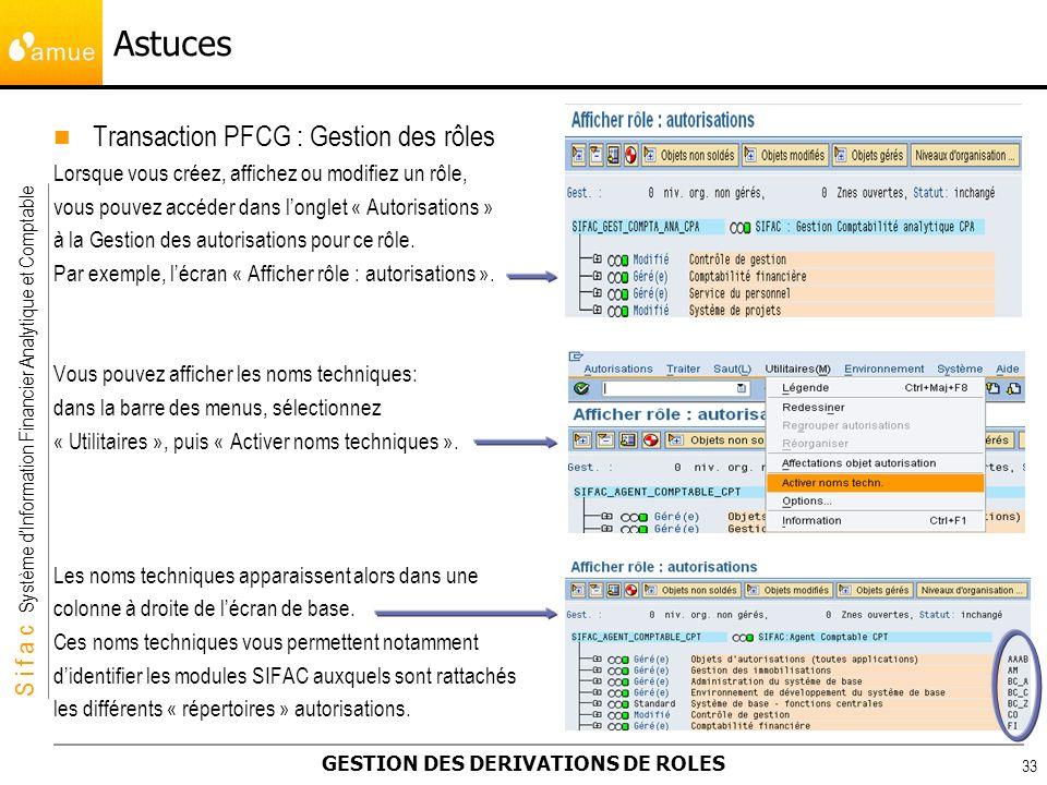 Astuces Transaction PFCG : Gestion des rôles