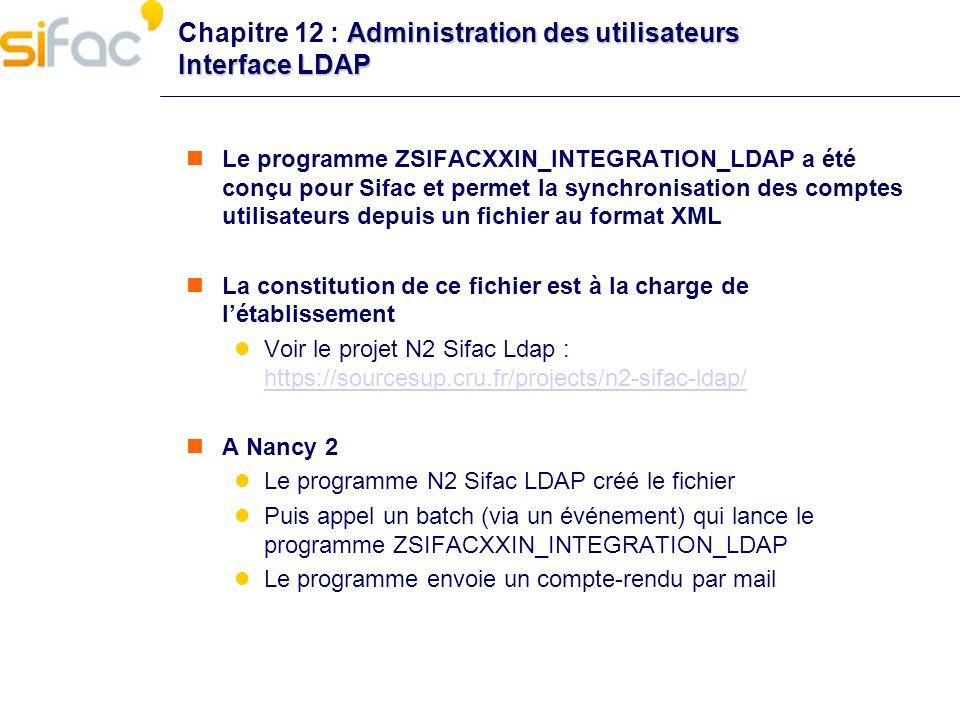 Chapitre 12 : Administration des utilisateurs Interface LDAP