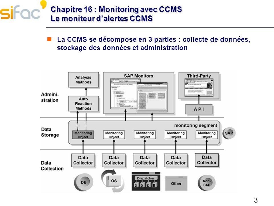 Chapitre 16 : Monitoring avec CCMS Le moniteur d'alertes CCMS