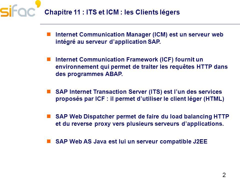 Chapitre 11 : ITS et ICM : les Clients légers