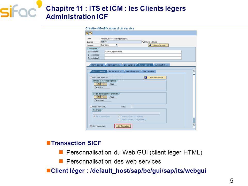 Chapitre 11 : ITS et ICM : les Clients légers Administration ICF