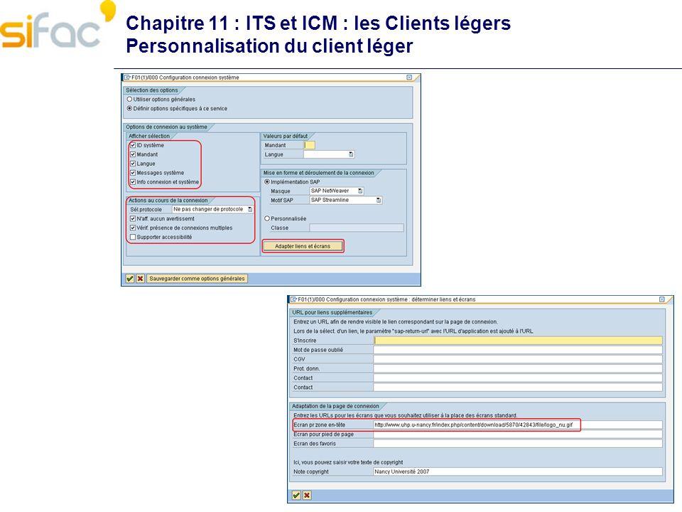 Chapitre 11 : ITS et ICM : les Clients légers Personnalisation du client léger