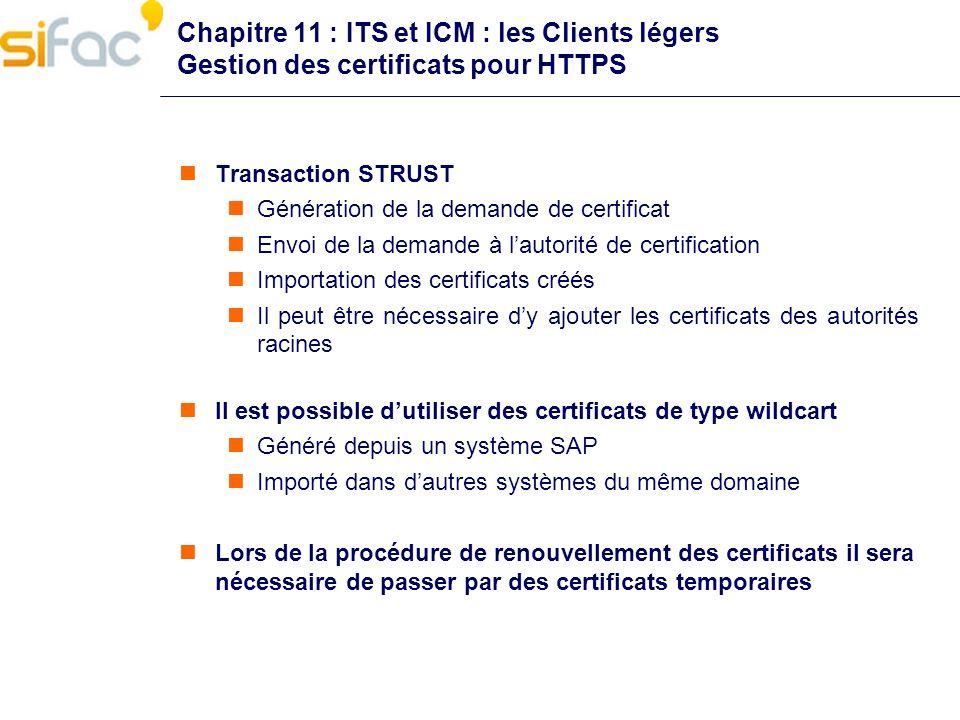Chapitre 11 : ITS et ICM : les Clients légers Gestion des certificats pour HTTPS