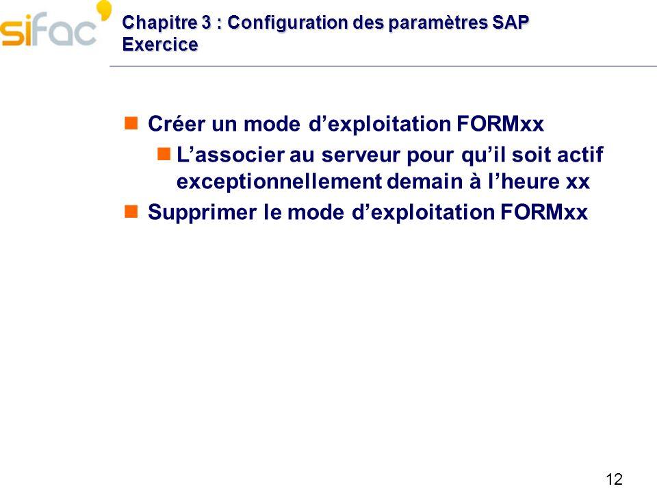 Créer un mode d'exploitation FORMxx