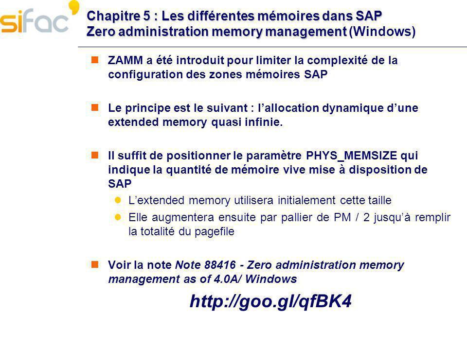 Chapitre 5 : Les différentes mémoires dans SAP Zero administration memory management (Windows)