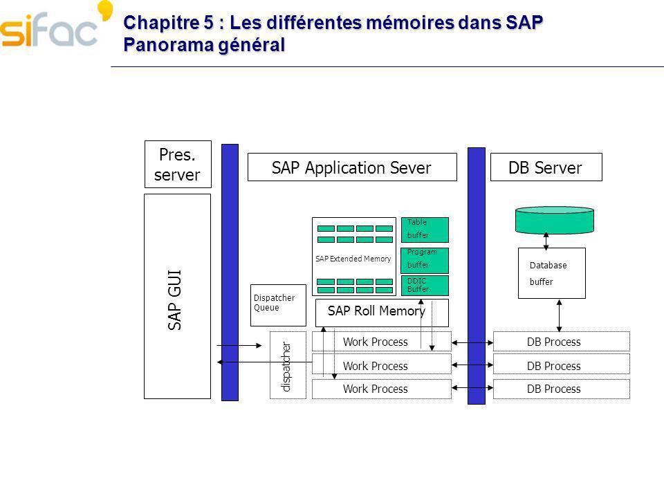 Chapitre 5 : Les différentes mémoires dans SAP Panorama général