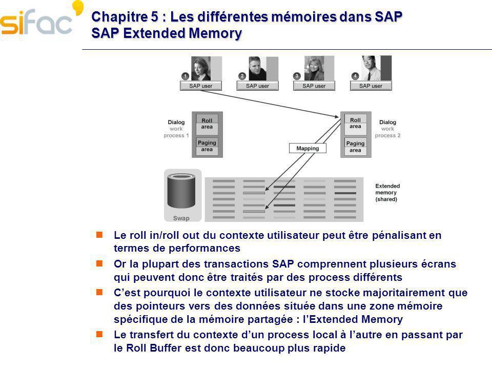 Chapitre 5 : Les différentes mémoires dans SAP SAP Extended Memory