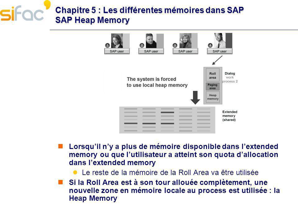 Chapitre 5 : Les différentes mémoires dans SAP SAP Heap Memory