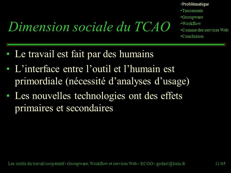 Dimension sociale du TCAO