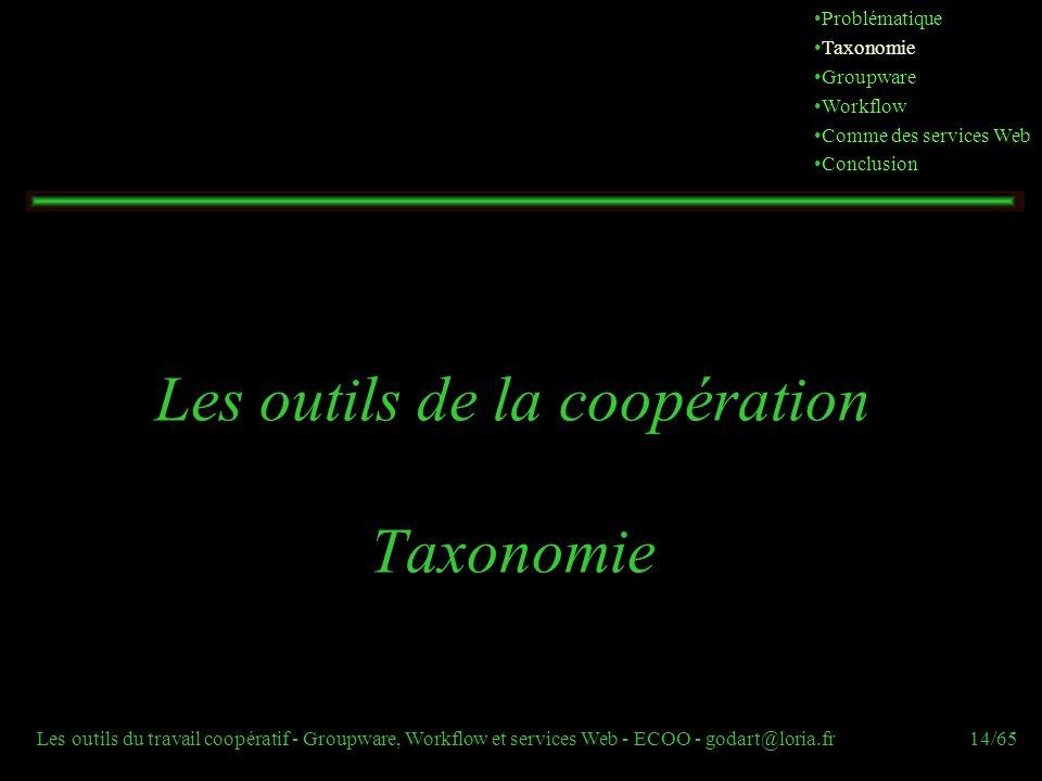 Les outils de la coopération Taxonomie