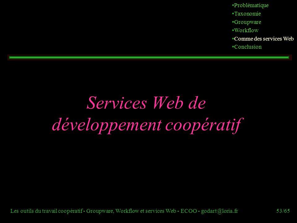 Services Web de développement coopératif