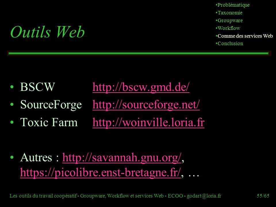 Outils Web BSCW http://bscw.gmd.de/