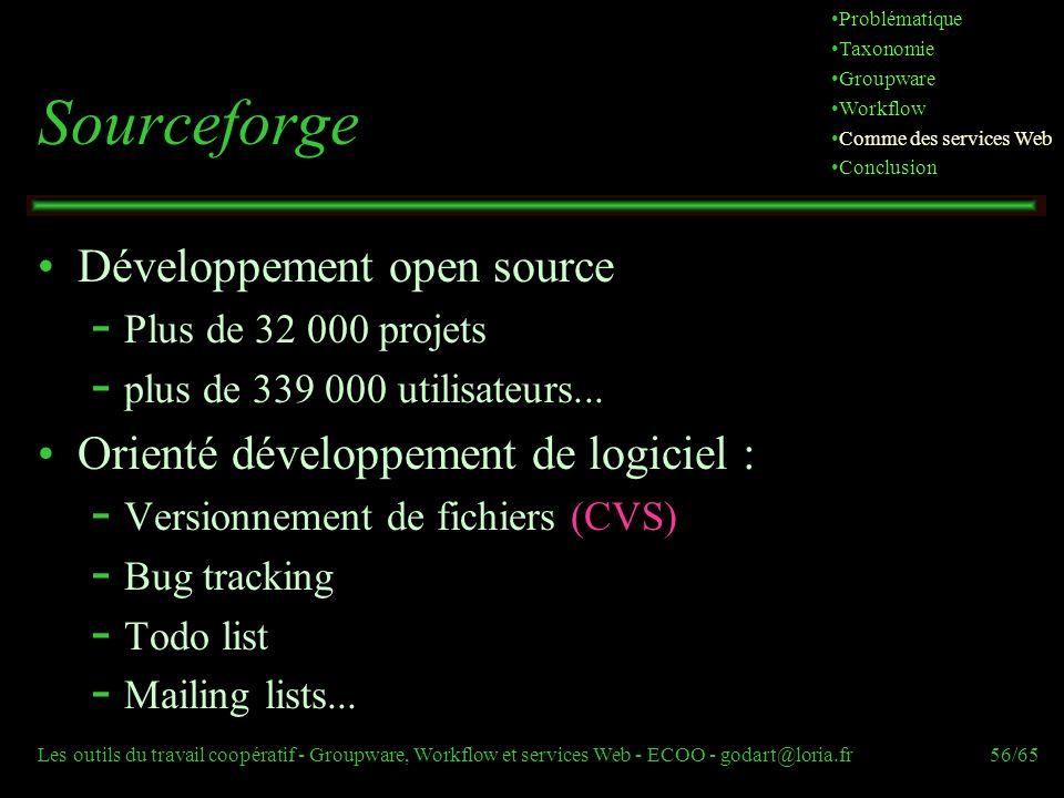 Sourceforge Développement open source