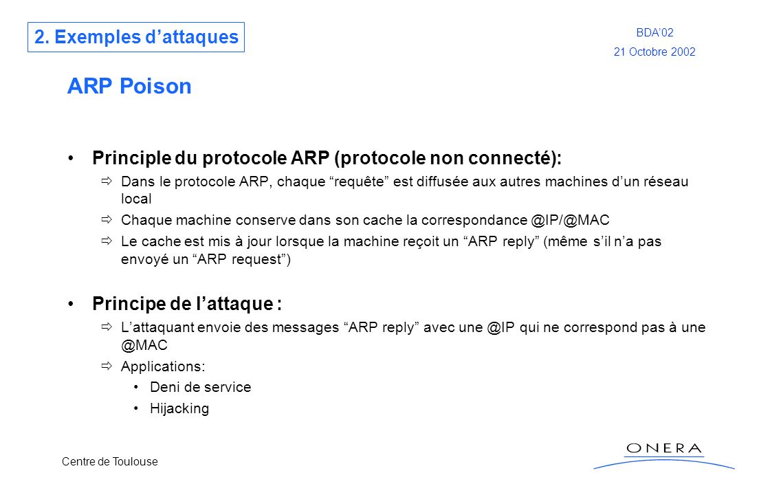 ARP Poison 2. Exemples d'attaques