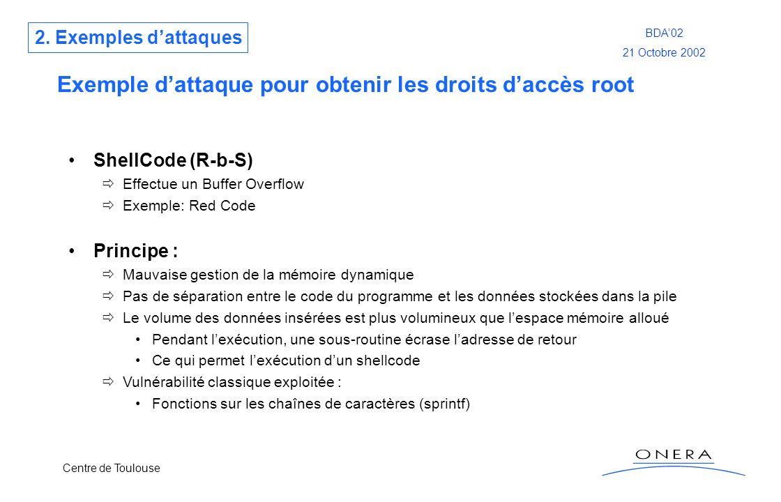 Exemple d'attaque pour obtenir les droits d'accès root