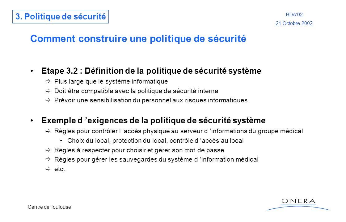Comment construire une politique de sécurité