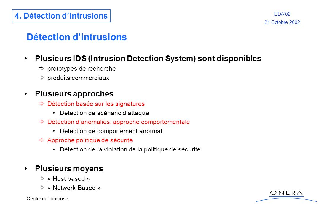 Détection d'intrusions