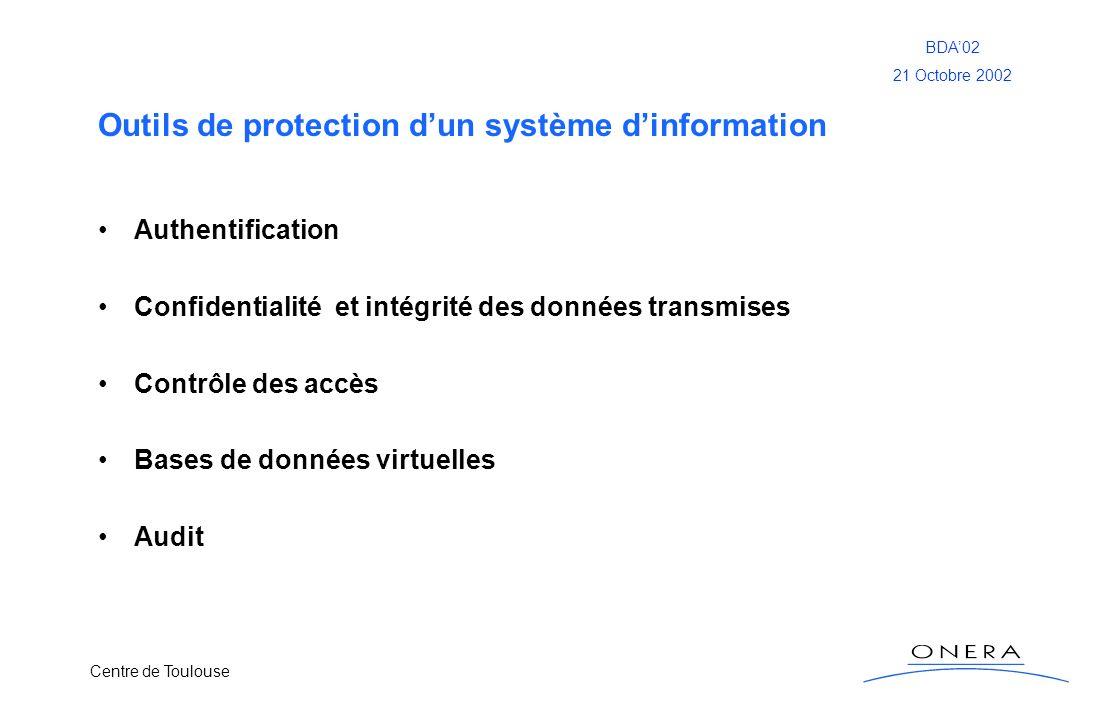 Outils de protection d'un système d'information