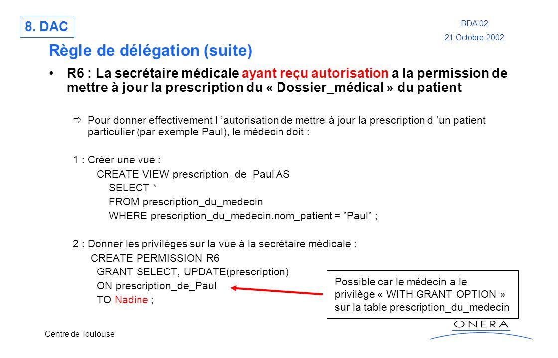 Règle de délégation (suite)