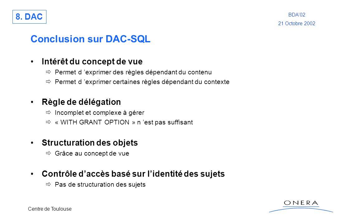 Conclusion sur DAC-SQL