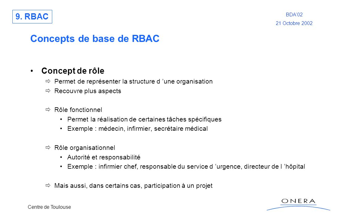 Concepts de base de RBAC