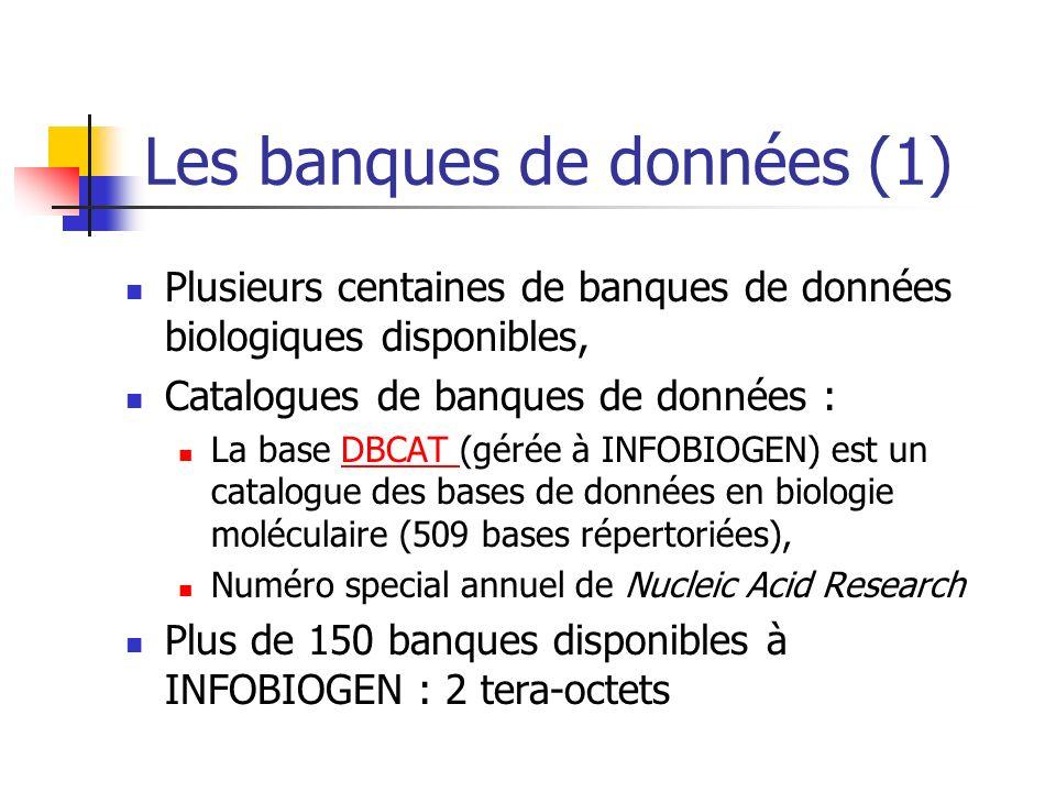 Les banques de données (1)